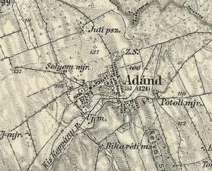 Ádánd térképe - 1869-1887