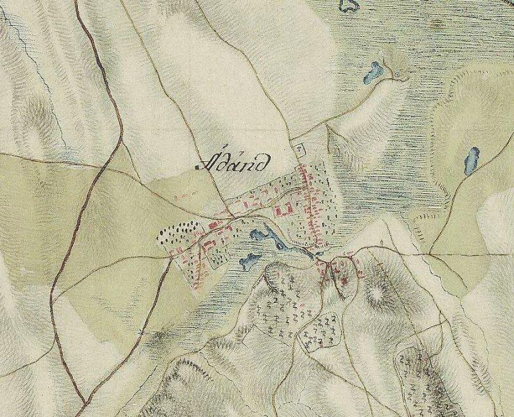 Ádánd térképe - 1763-1785